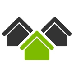 Real estate icon from business bicolor set vector