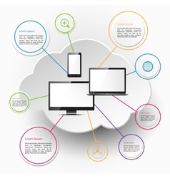 Computing and cloud technology vector