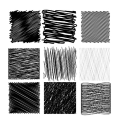 Set of diagonal strokes patterns vector
