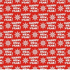 Seamless pattern for new year vector