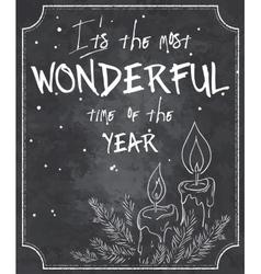 chalkboard style christmas vector image