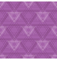 Pattern with violet triangles vector