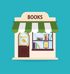 Books shop facade of books shop building i vector