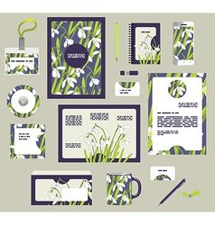 Corporate style business templates set of spring vector