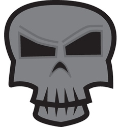 Skull sticker vector