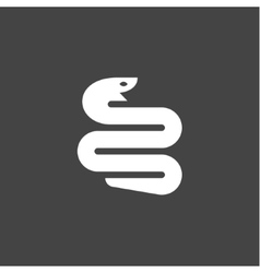 Snake icon in modern minimalist style flat trend vector