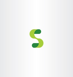 Green s logo eco letter s icon vector