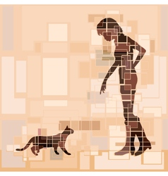 Cat woman vector image