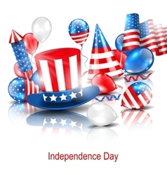 Party background in traditional american colors vector