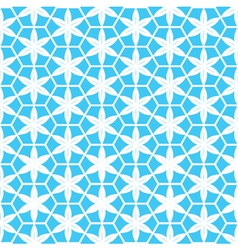 Abstract white flower in blue background vector
