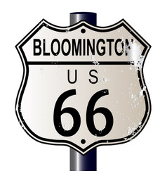 Bloomington route 66 sign vector