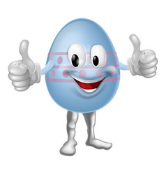 cartoon easter egg character vector image vector image