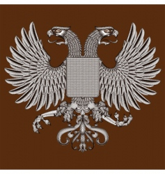 eagle and shield vector image vector image