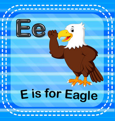 Flashcard letter e is for eagle vector