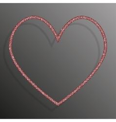 Frame red sequins heart glitter sparkle vector