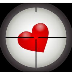 Heart under a sight vector image