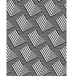 Op art design zig zag striped seamless pattern vector