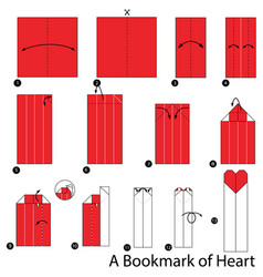 Origami a bookmark of heart vector