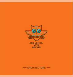 owl logo architecture vector image