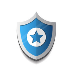 shield with star icon protection and security vector image vector image
