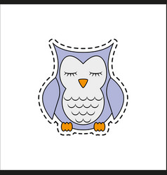 Sleeping owl vector