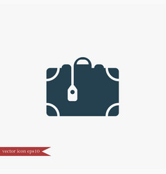 suitcase icon simple vector image vector image