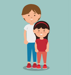 Teenager and kid design vector