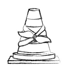 Toy cone damaged design vector