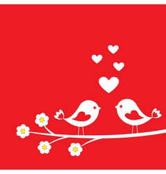 Two cute birds vector image vector image