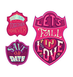 You and me together forever lets fall in love vector