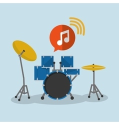 Drum music sound instrument vector