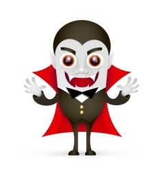 Vampire or dracula on white background vector