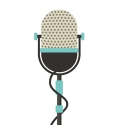 Microphone retro isolated icon vector