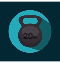 Icon dumbbell barbell design vector