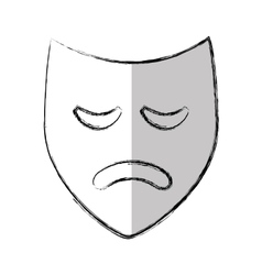 Theater mask classic icon vector