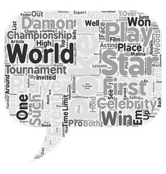 Stars who play poker text background wordcloud vector