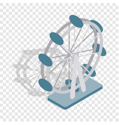 Ferris wheel isometric icon vector