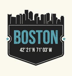 boston city graphic t-shirt design tee print vector image