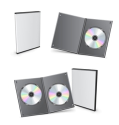 Blank dvd boxes vector