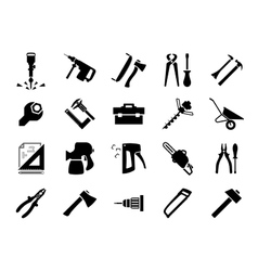 Hand and power tools icons vector