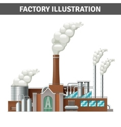 Realistic factory vector