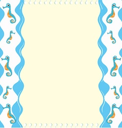 Paper design with seahorse vector image