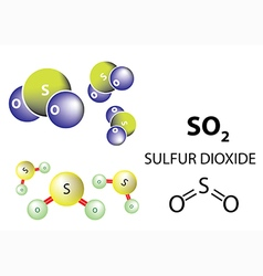 Sulfur dioxide molecule chemical structure vector image