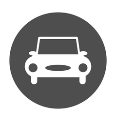 Car round icon vector