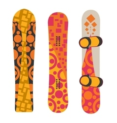 Snowboard sport boards elements vector