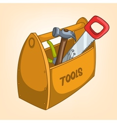 Cartoon tool box vector
