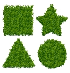 Green grass banners set vector