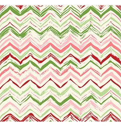 Colorful stripes seamless zigzag pattern vector