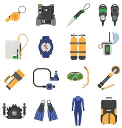 Snorkeling and diving activity equipment vector