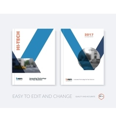 Set of design for cover annual report vector